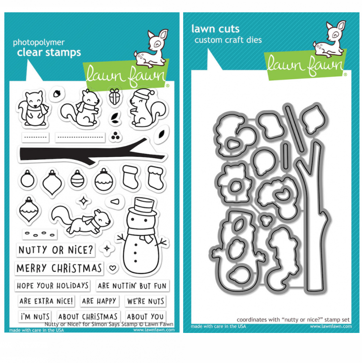 Lawn Fawn Nutty or Nice Clear Stamps and Dies