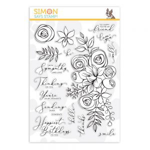 sss101830, Sketched Flowers, Card Kit