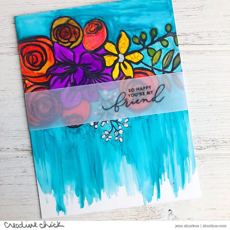 Jenn Shurkus, Card Kit, Sketched Flowers