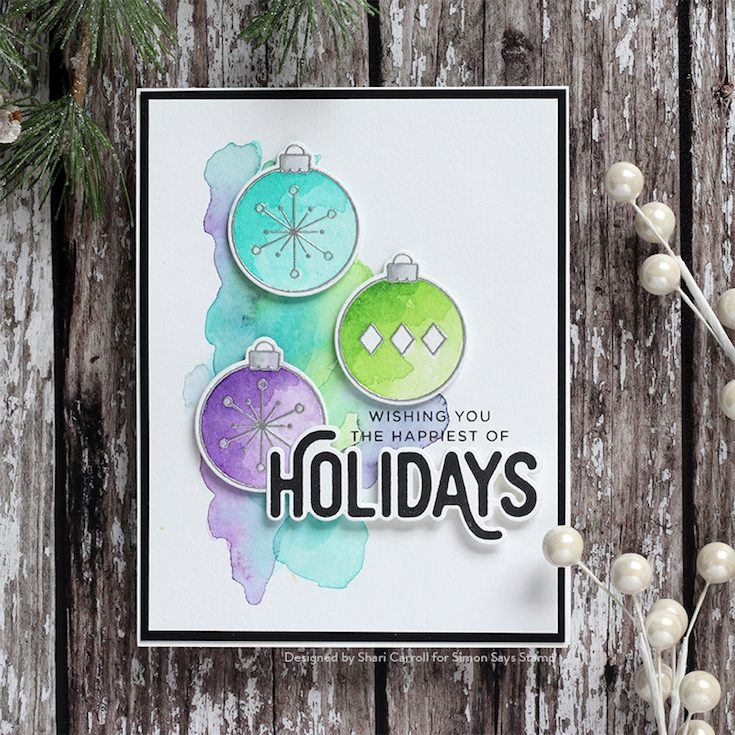 Fun and Festive Blog Hop Shari Carroll Ornamental stamp set and dies by CZ Design