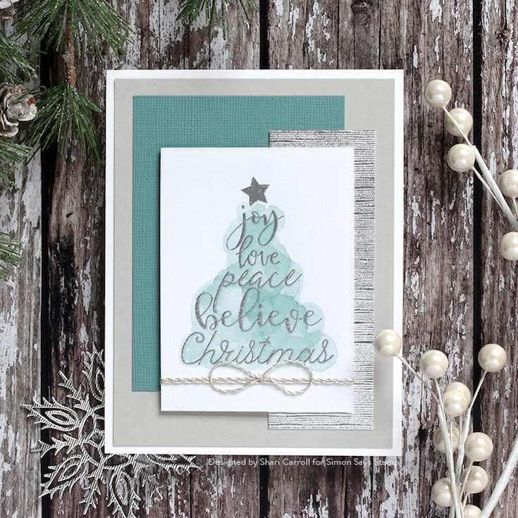 Fun and Festive Blog Hop Shari Carroll Christmas Wishes stamp set