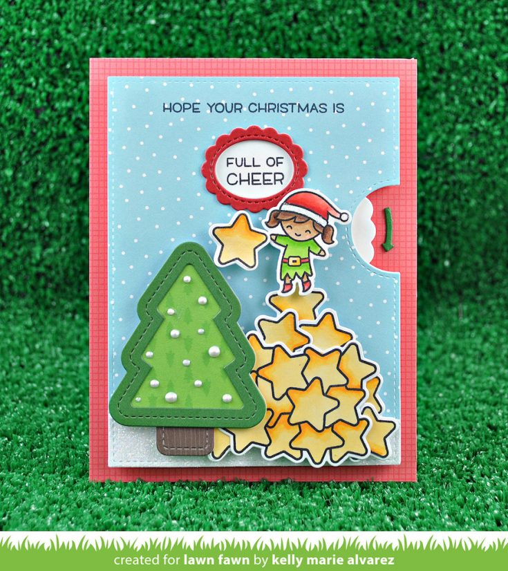 An Interactive Lawn Fawn Christmas Card