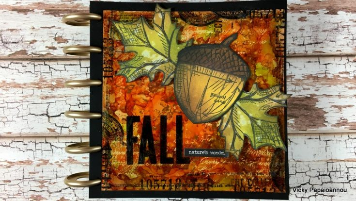Autumn Art Journaling with Vicky P