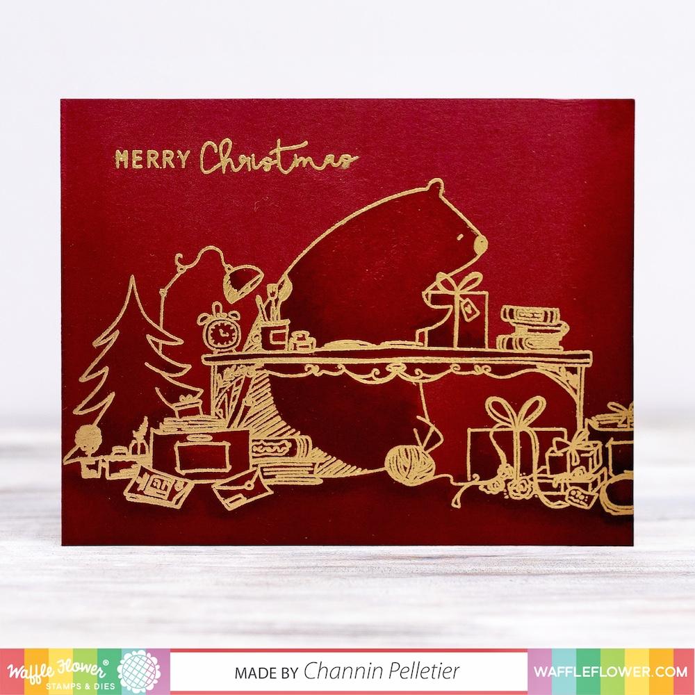 Tone on Tone Christmas Card