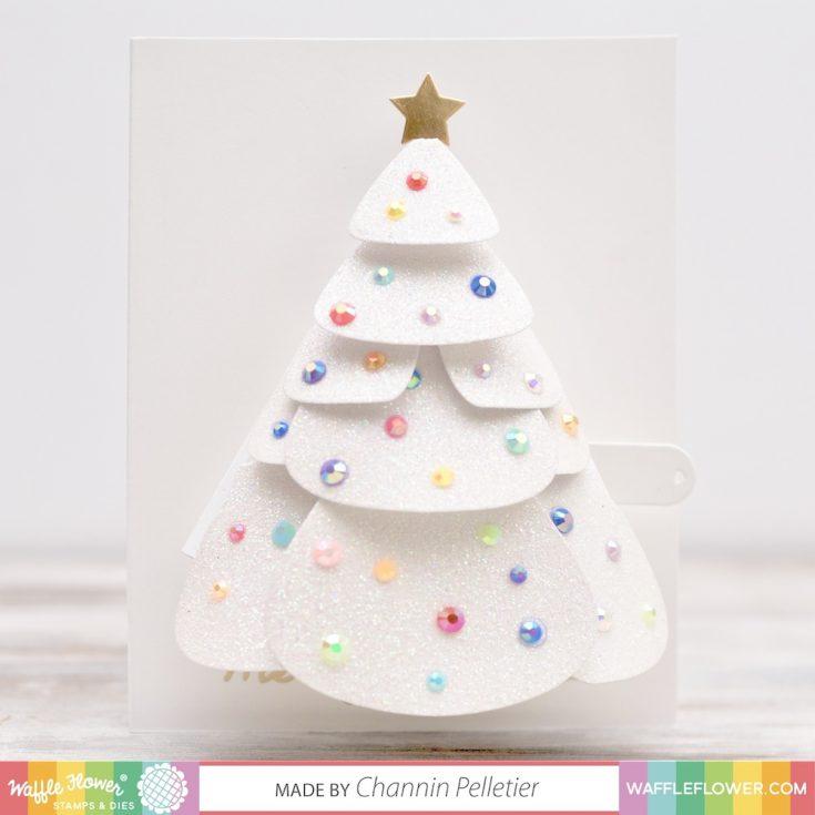 Waffle Flower Crafts Pull Tab Christmas Tree