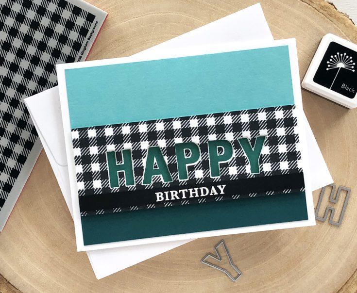 Masculine Happy Birthday Card