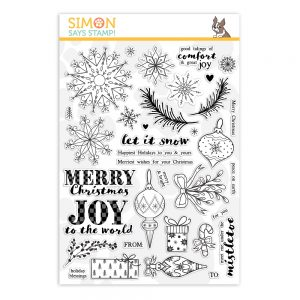 Comfort and Joy clear stamps