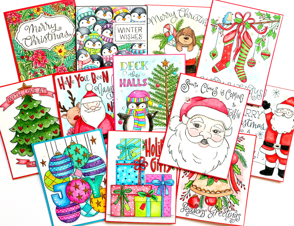 Happy Holidays Suzy's Watercolor Prints