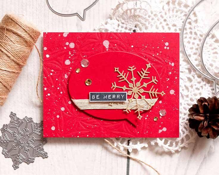 Anna Kossakovskaya Simon Says Stamp November 18 Throwback Thursday Nested Talk Bubbles and Big Joy Snowflake dies Diecember®