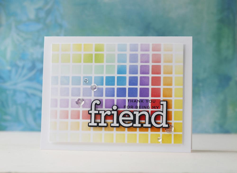 Amore Laura Fadora: Rainbow Grid Masking