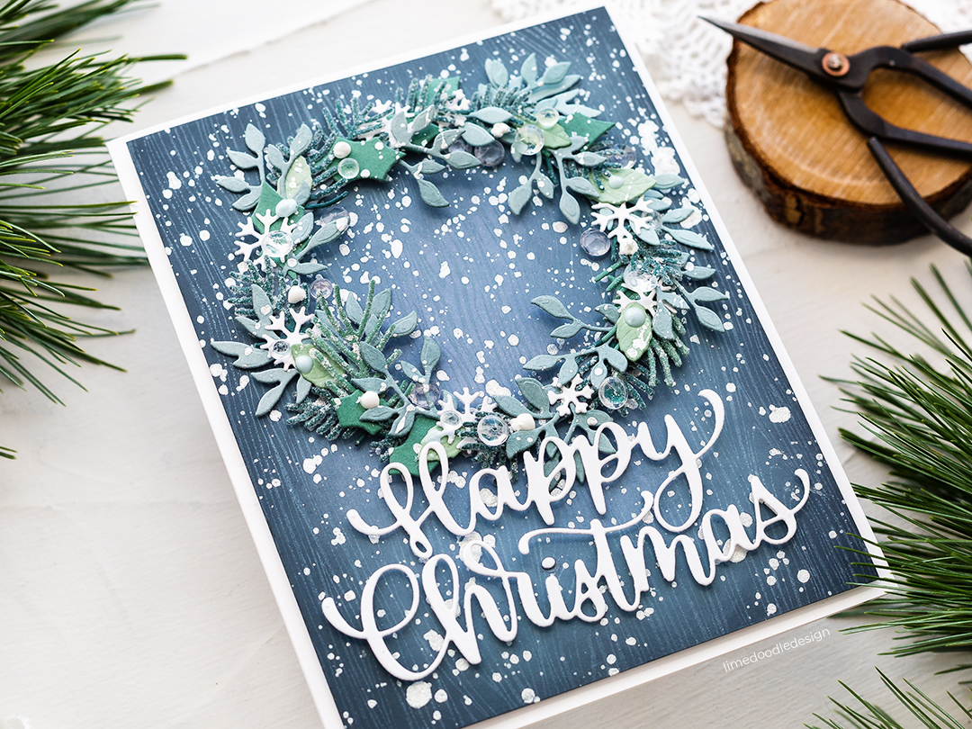 Doodling with Debby: Die Cut Winter Wreath