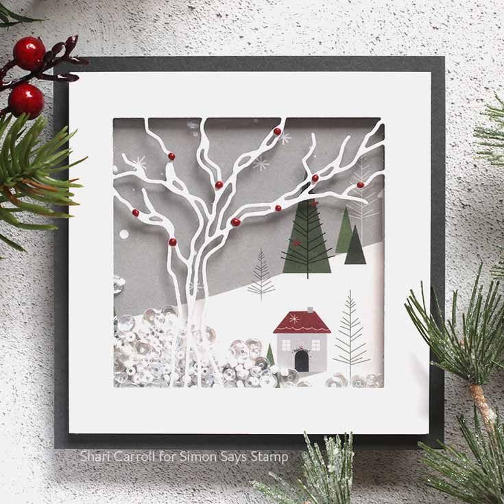 DieCember® Blog Hop Shari Carroll Tree Frame die