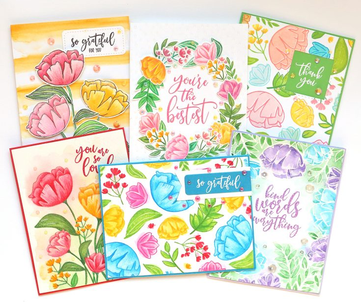 One Stamp Set Five Ways So Loved