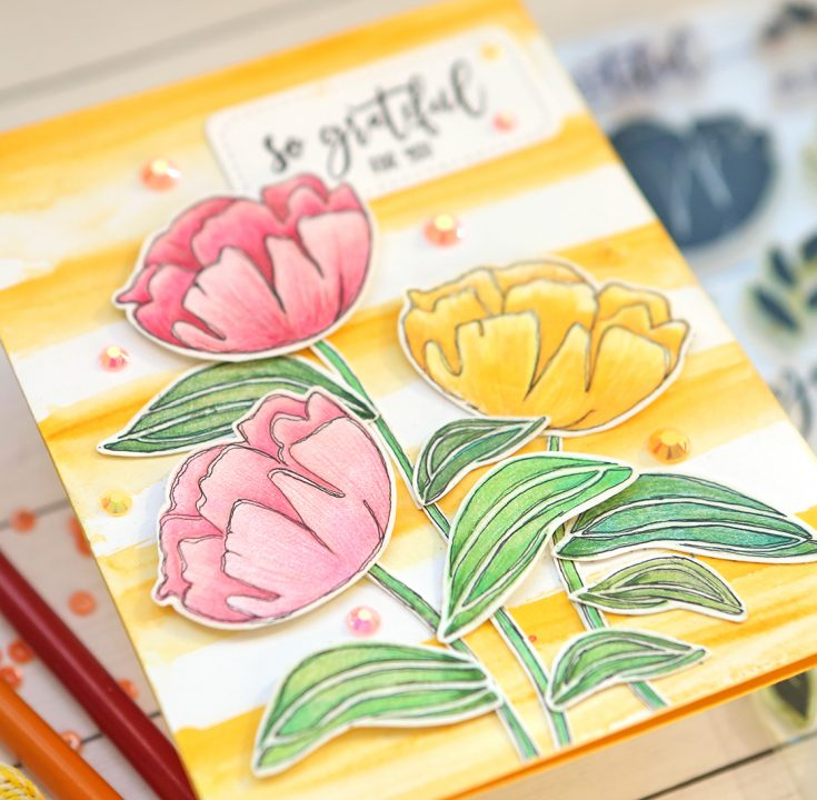 One Stamp Set Five Ways So Loved