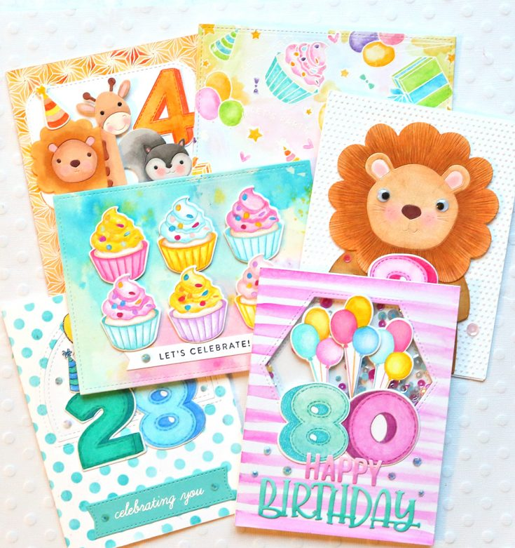 One Stamp, Five Ways: Birthday Numbers!