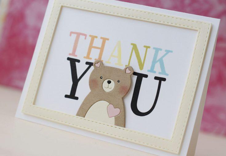 Amore LauraFadora Love Bear Thanks