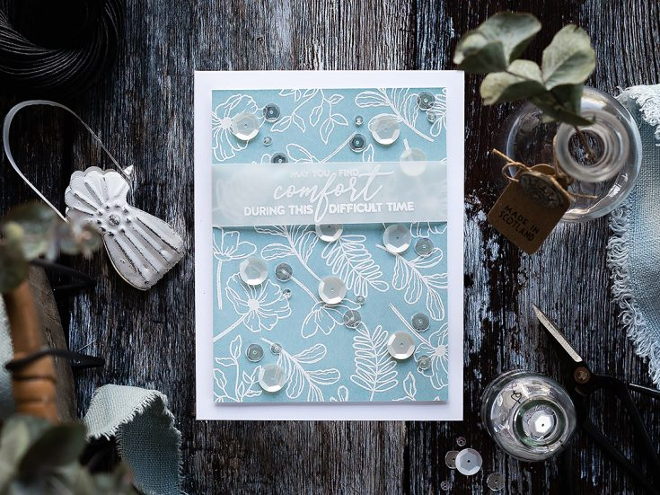 Doodling with Debby: Simple White Embossed Pattern
