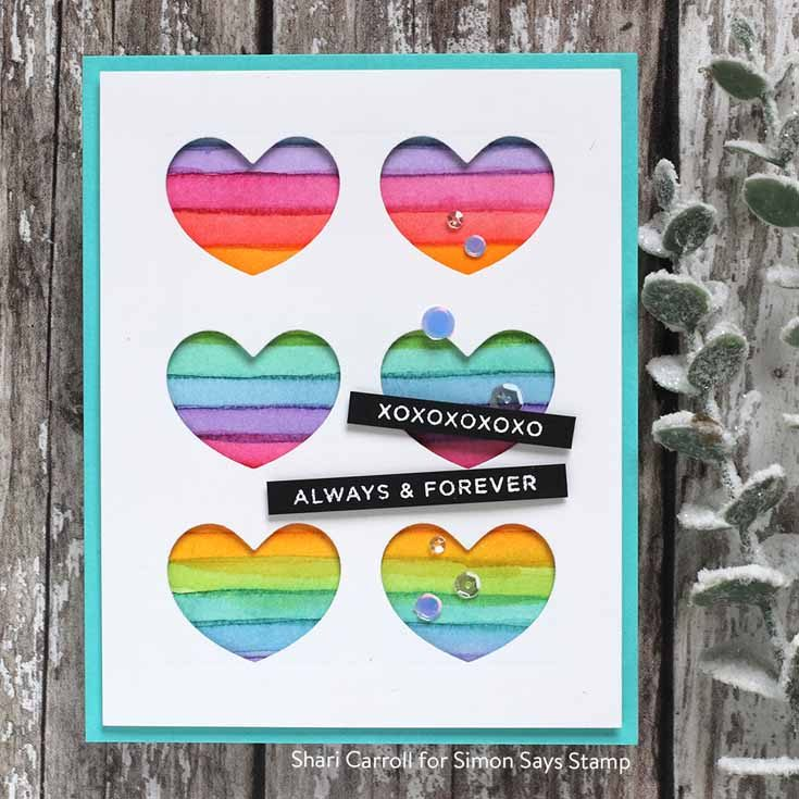 You Are Loved Blog Hop Shari Carroll CZ Design Simple Sentiments 2 stamp set and Windows to my Heart die