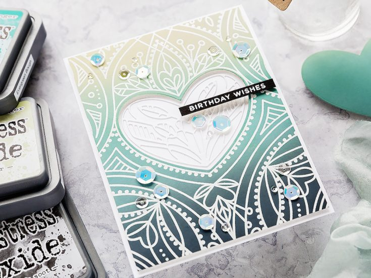Doodling with Debby: Blended Distress Oxide Background
