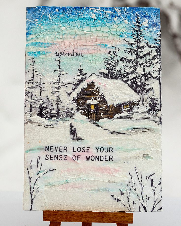 Winter Wonderland Mixed Media Scene