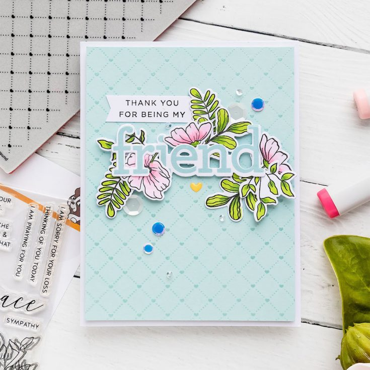 Yippee for Yana: Floral Friendship Card