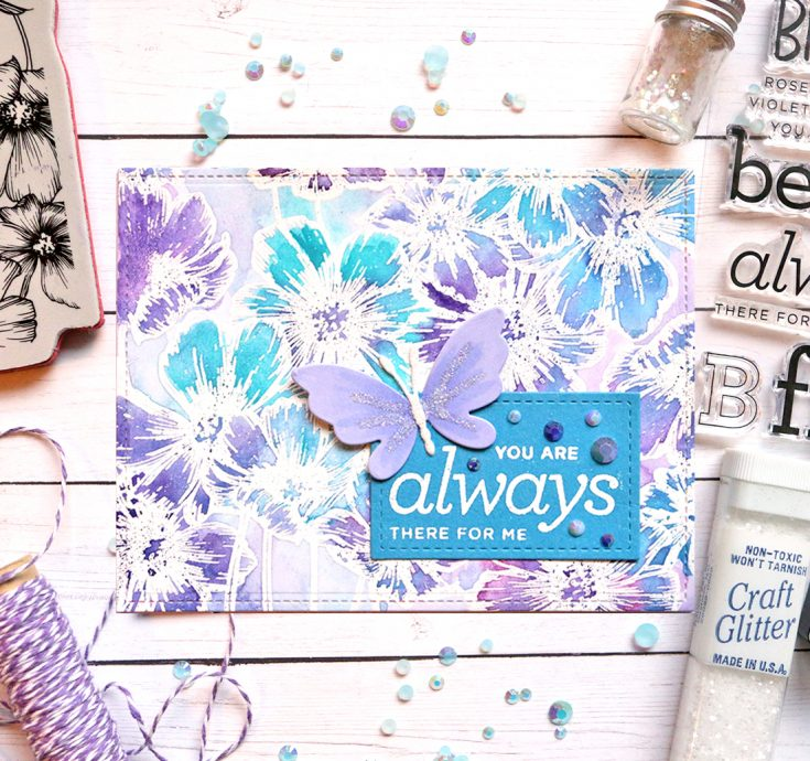 One Stamp Five Ways: Cosmos Background