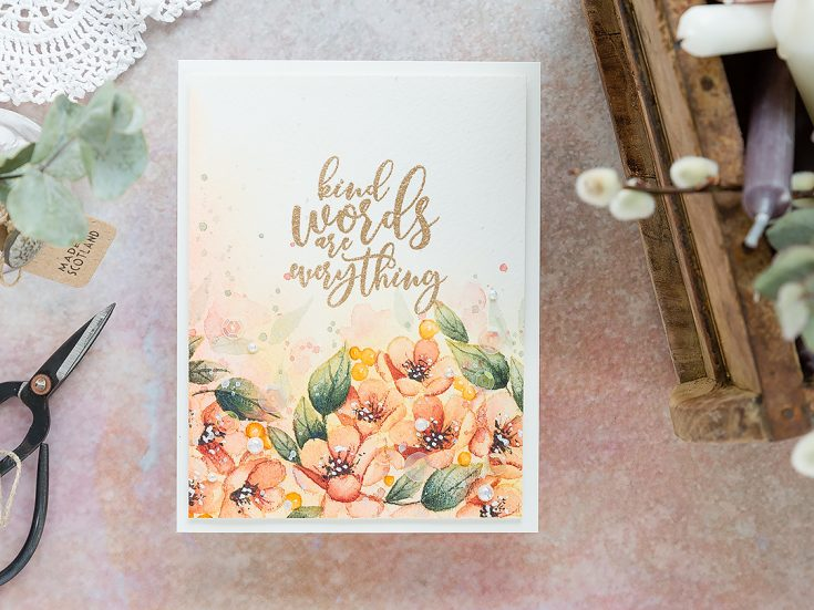 Doodling with Debby Watercolor Flower Border