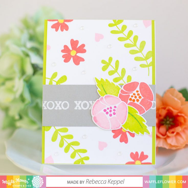 XOXO Layering Stamps 2 Ways with Waffle Flower!
