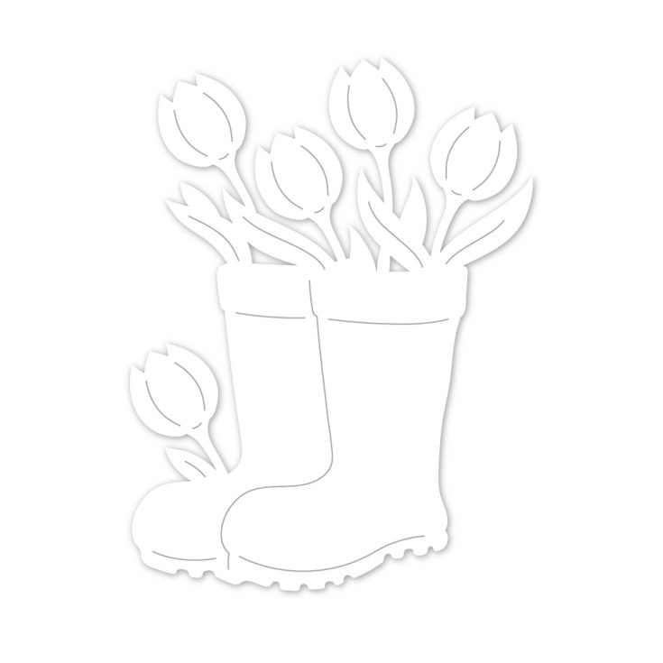 Rainboot Planter, Die