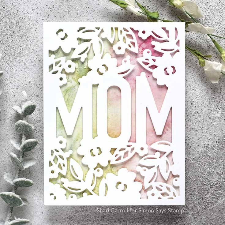 Blossoms & Butterflies Blog Hop Shari Carroll Floral Mom Frame die