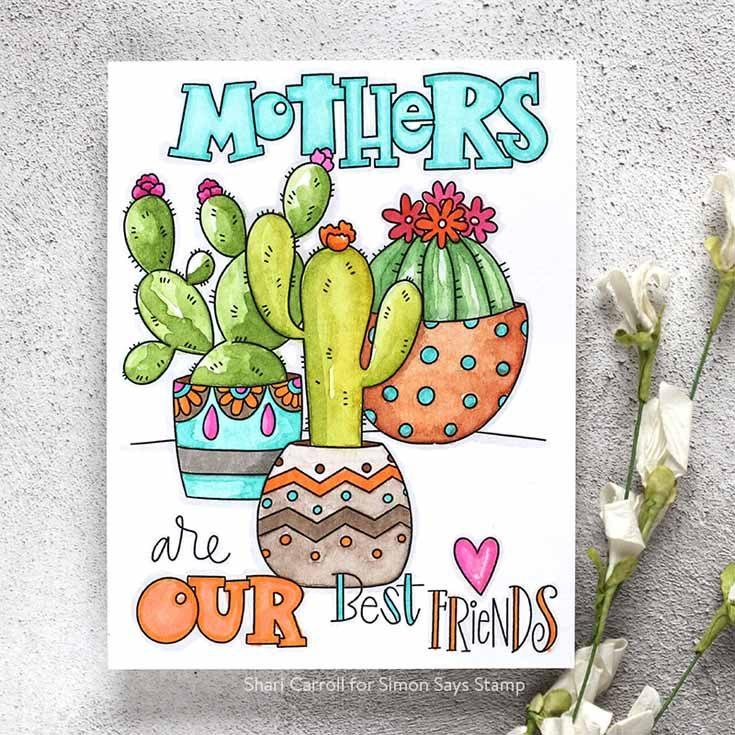 Blossoms & Butterflies Blog Hop Shari Carroll Suzy's Watercolor Cards