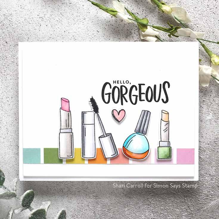Blossoms & Butterflies Blog Hop Shari Carroll Wake Up and Makeup stamp set