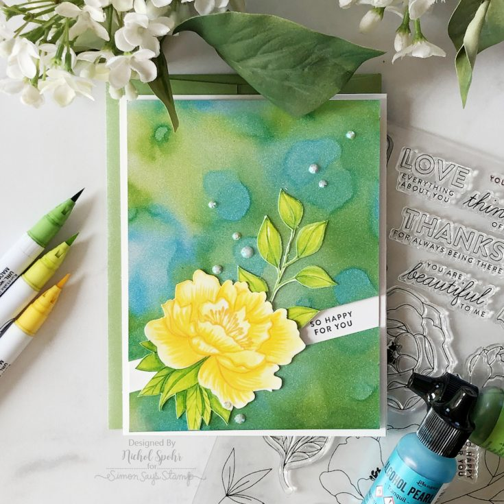 Sparkle Backgrounds with Alcohol Pearl Inks