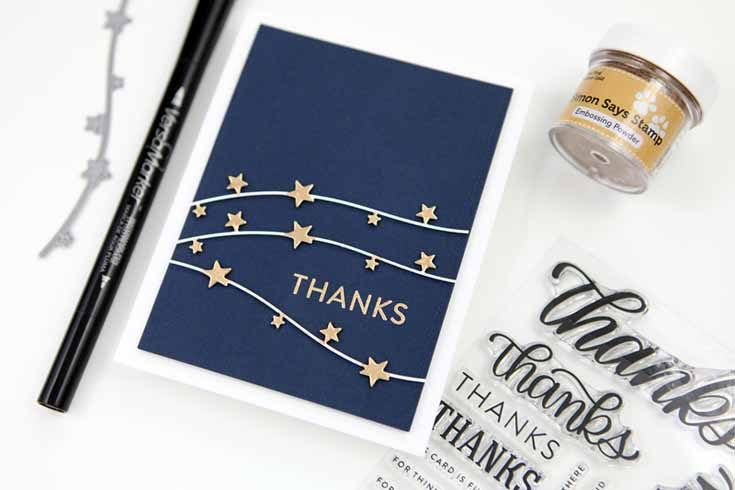 Cathy Zielske Simon Says Stamp May 19 Throwback Thursday Big Thanks stamp set and Star Stream die