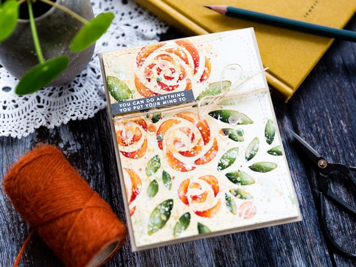 Doodling with Debby: Stencil with Watercolor