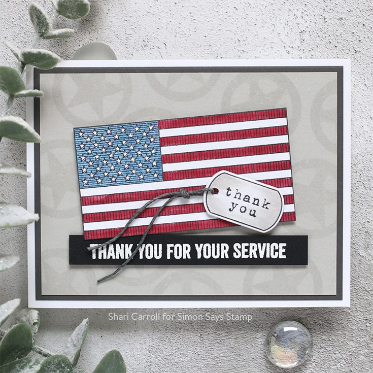 Celebrate You Blog Hop Shari Carroll Patriotic Service stamp set and dies