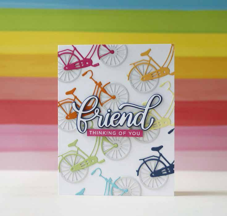 Laura Bassen Simon Says Stamp June 2019 Throwback Thursday Classic Bicycle and Big Friend die