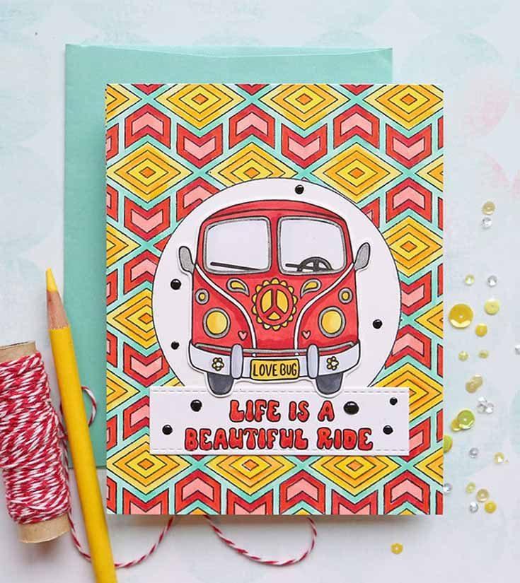 Suzy Plantamura Simon Says Stamp July 2019 Throwback Thursday More Good Vibes stamp set