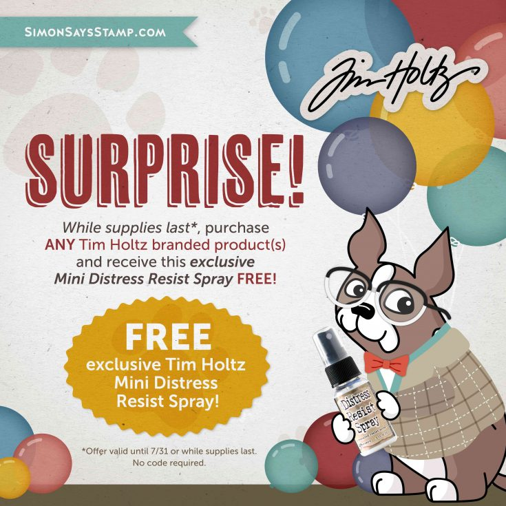 Tim Holtz Brand of the Month Free Gift with Purchase