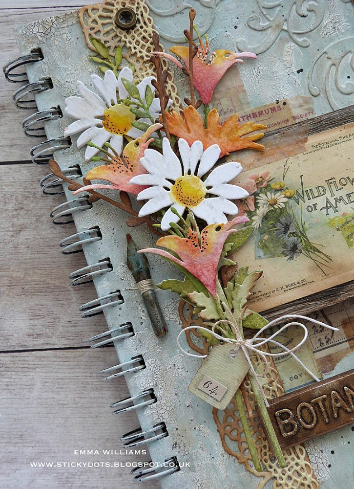 Botanical Notes Altered Notebook