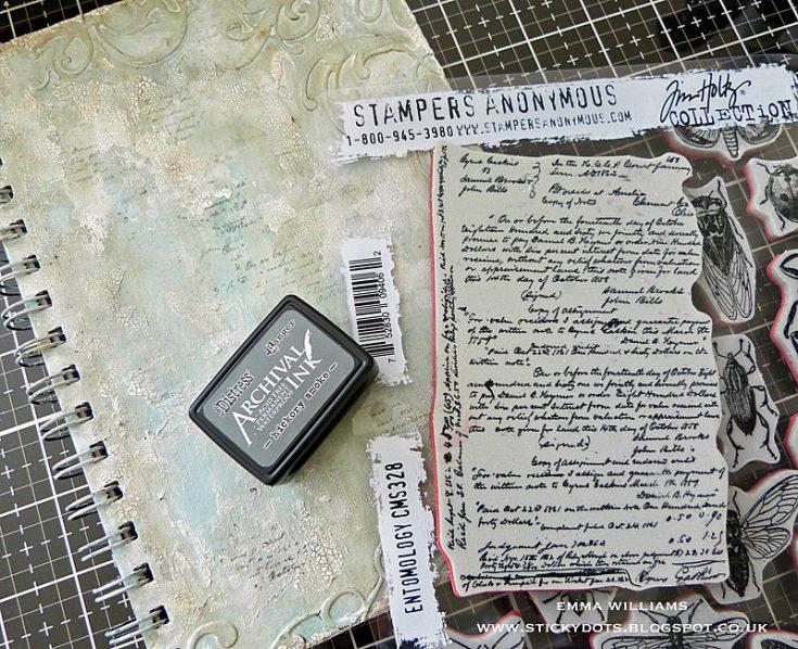 Botanical Notes Altered Notebook