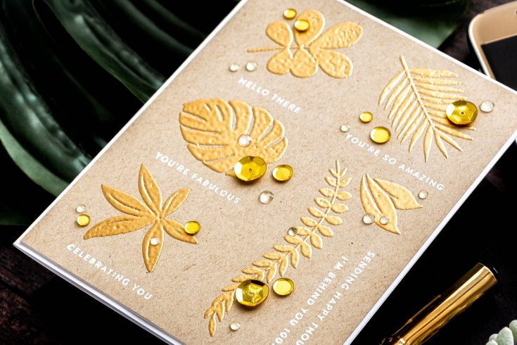 Yippee for Yana: Gold Tropical Card