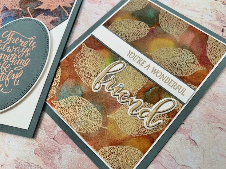 Embossing Over Alcohol Pearls with Gina K Designs