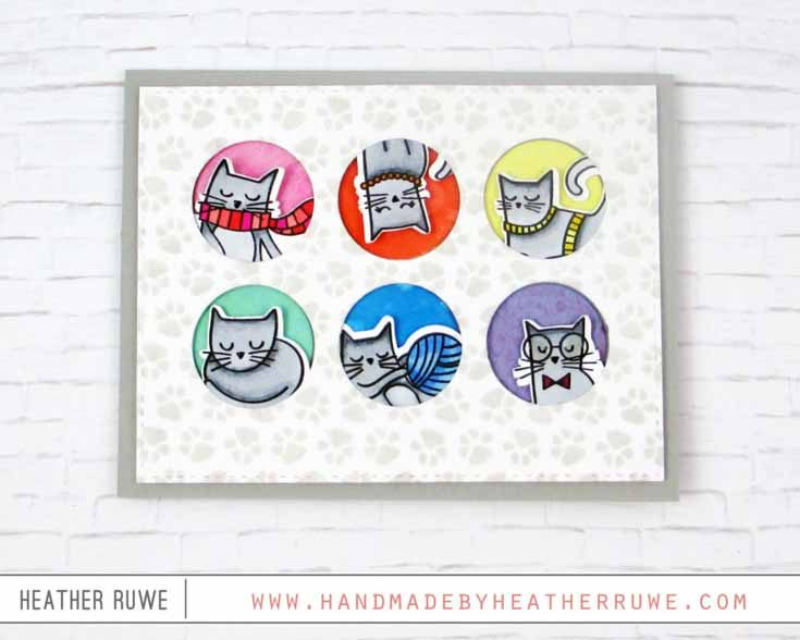 Heather Ruwe Simon Says Stamp August 2019 Throwback Thursday Right Meow stamp set and coordinating dies