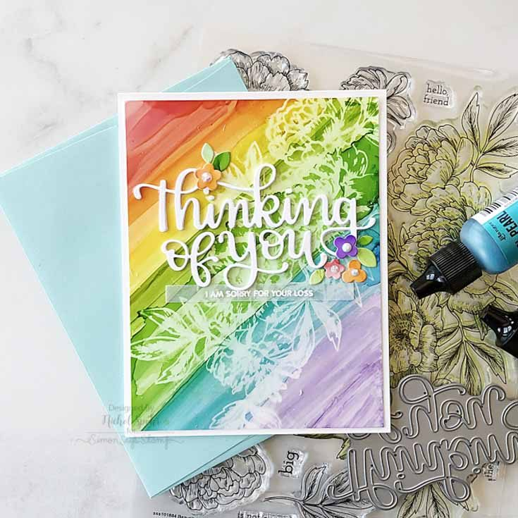 Nichol Spohr Simon Says Stamp August 2019 Throwback Thursday Beautiful Flowers 2 stamp set and Thinking of You die