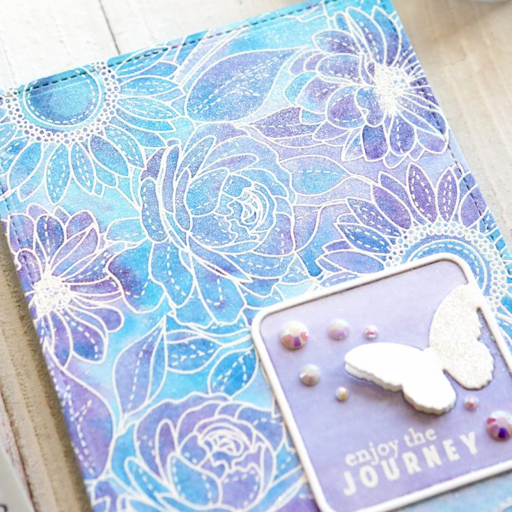 One Stamp Five Ways: Floral Mix Background