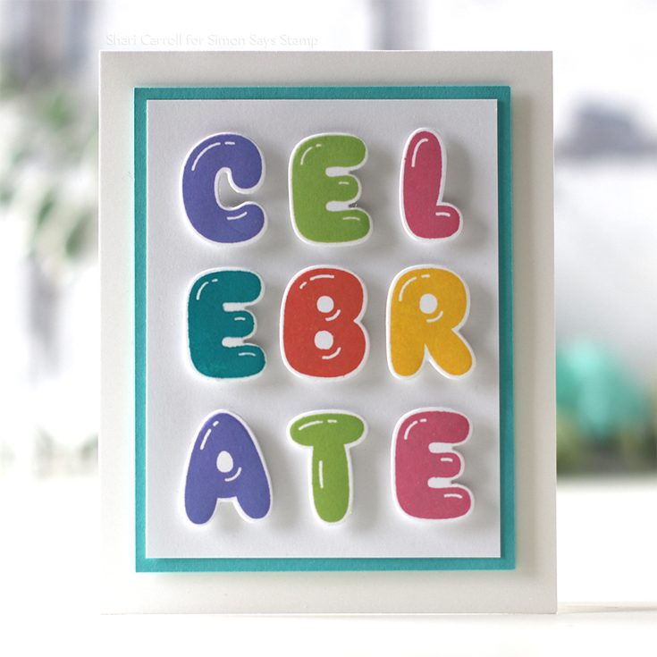 STAMPtember® Blog Party Shari Carroll Balloon Letters stamp set and dies