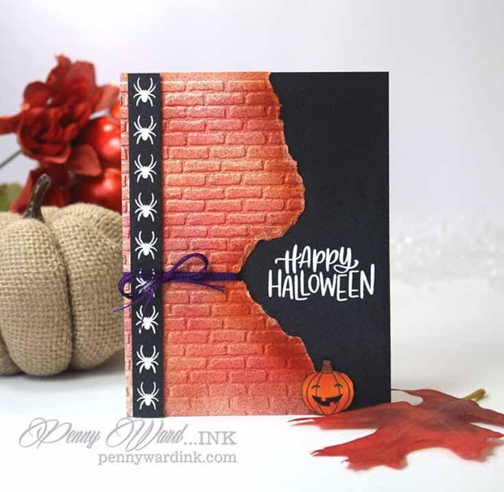 Penny Ward Simon Says Stamp October 2019 Throwback Thursday Handlettered Halloween stamp set