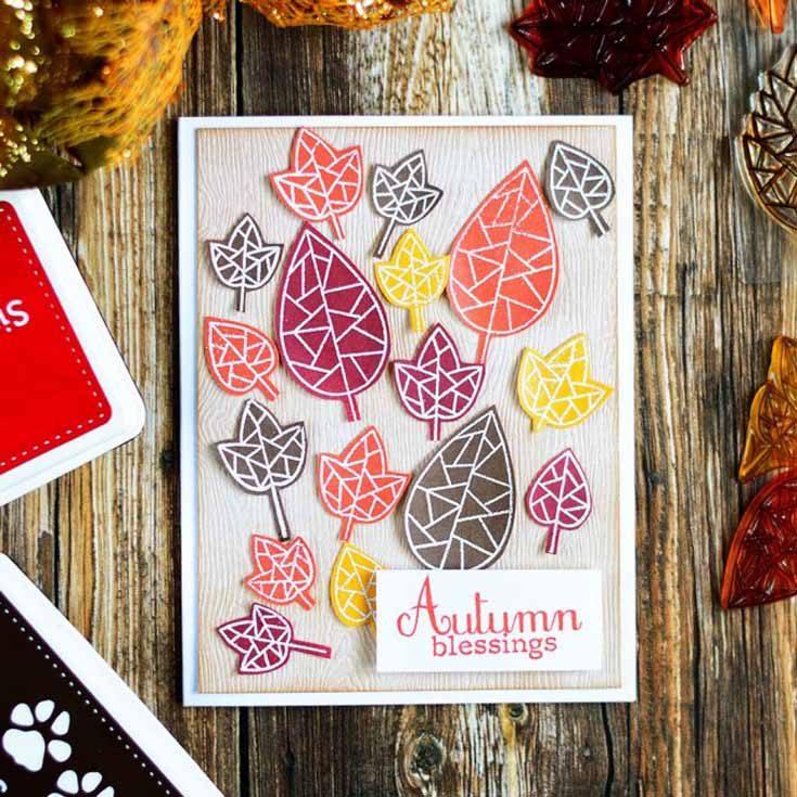 Svitlana Shayevich Simon Says Stamp October 2019 Throwback Thursday Fractile Leaves stamp set
