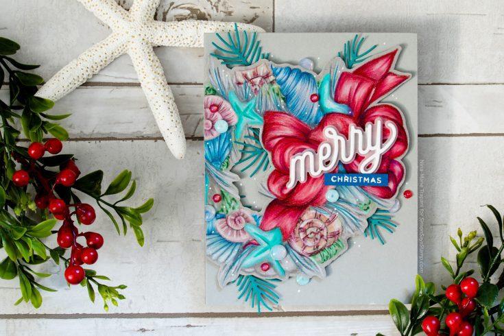 Nina-Marie Trapani Simon Says Stamp November 2019 Throwback Thursday Mele Kalikimaka stamp set and CZ Design Merry die